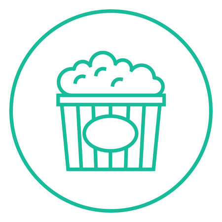 Pop-corn icône de ligne épaisse avec des coins et des bords pointus pour le web, mobile et infographie. Icône isolé de vecteur. Banque d'images - 55170736