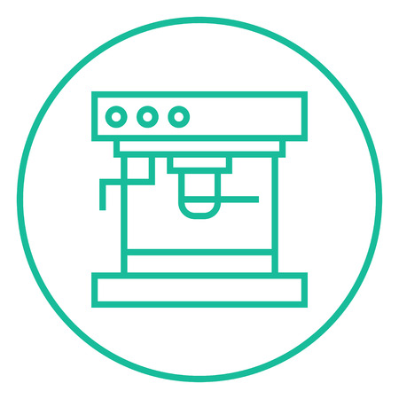 device: Coffee maker thick line icon with pointed corners and edges for web, mobile and infographics. Vector isolated icon.