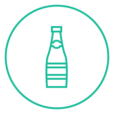 Glass bottle thick line icon with pointed corners and edges for web, mobile and infographics. Vector isolated icon. 向量圖像