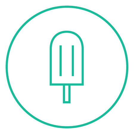popsicle: Popsicle thick line icon with pointed corners and edges for web, mobile and infographics. Vector isolated icon.