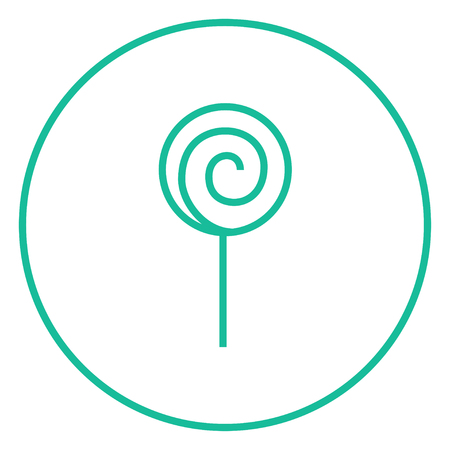 Spiral lollipop thick line icon with pointed corners and edges for web, mobile and infographics. Vector isolated icon. Ilustracja