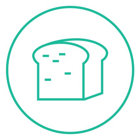 Half of bread thick line icon with pointed corners and edges for web, mobile and infographics. Vector isolated icon.