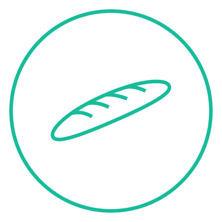 Baguette thick line icon with pointed corners and edges for web, mobile and infographics. Vector isolated icon. Ilustracja
