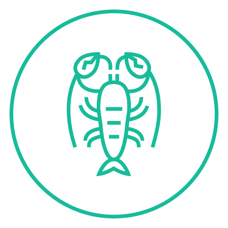 Lobster thick line icon with pointed corners and edges for web, mobile and infographics. Vector isolated icon.