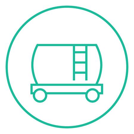 aljibe: Ferrocarril cisterna icono de línea gruesa con esquinas puntiagudas y bordes para web, móvil y la infografía. aislado vector icono. Vectores