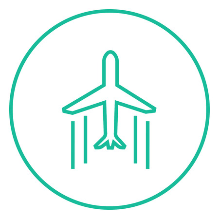 Cargo plane thick line icon with pointed corners and edges for web, mobile and infographics. Vector isolated icon.