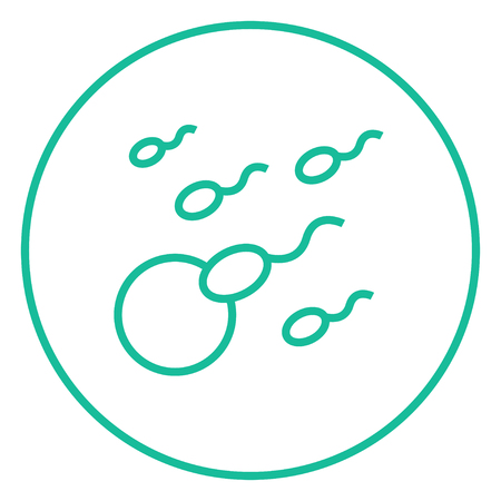 sex chromosomes: Fertilization thick line icon with pointed corners and edges for web, mobile and infographics. Vector isolated icon.