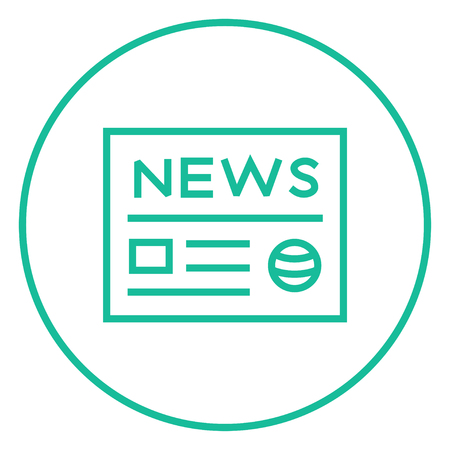 tabloid: Newspaper thick line icon with pointed corners and edges for web, mobile and infographics. Vector isolated icon. Illustration