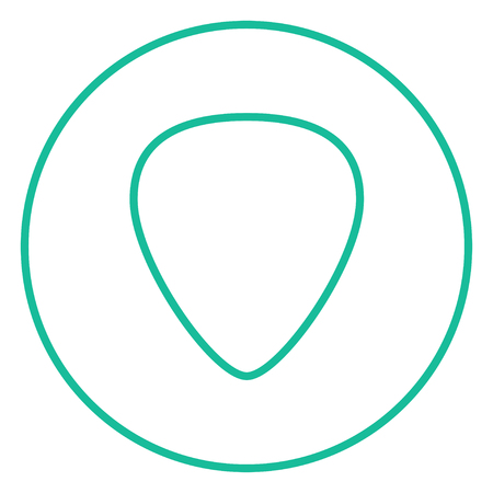 mediator: Guitar pick thick line icon with pointed corners and edges for web, mobile and infographics. Vector isolated icon.