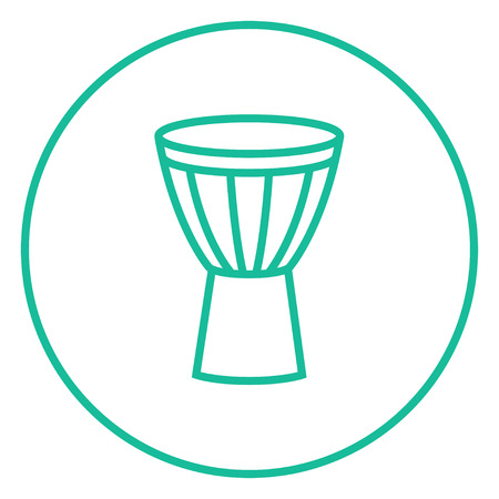 Timpani thick line icon with pointed corners and edges for web, mobile and infographics. Vector isolated icon.
