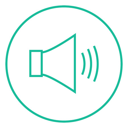 max: Speaker volume thick line icon with pointed corners and edges for web, mobile and infographics. Vector isolated icon.