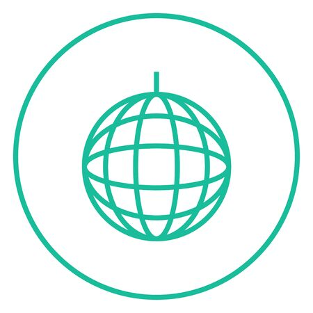 Disco ball thick line icon with pointed corners and edges for web, mobile and infographics. Vector isolated icon. Çizim