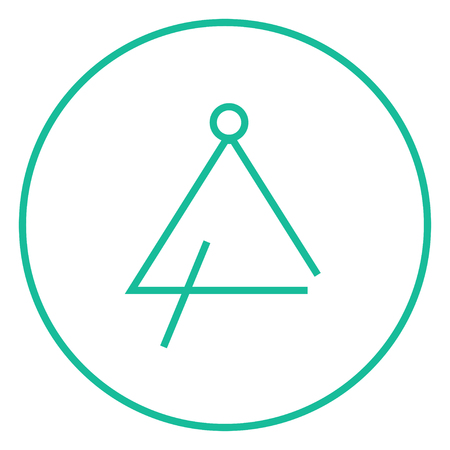 Triangle thick line icon with pointed corners and edges for web, mobile and infographics. Vector isolated icon. Illustration