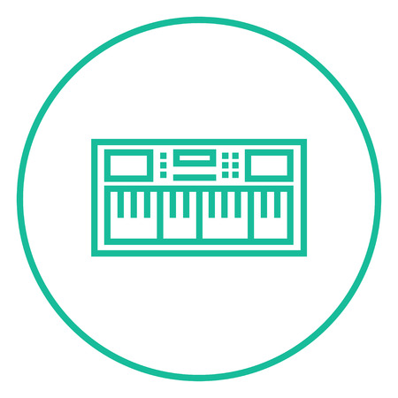 synthesizer: Synthesizer thick line icon with pointed corners and edges for web, mobile and infographics. Vector isolated icon. Illustration