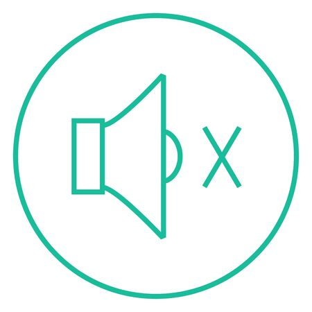 Mute speaker thick line icon with pointed corners and edges for web, mobile and infographics. Vector isolated icon.