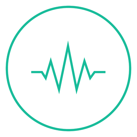Geluidsgolf dikke lijn icoon met puntige hoeken en randen voor het web, mobiel en infographics. Vector geïsoleerde pictogram. Vector Illustratie