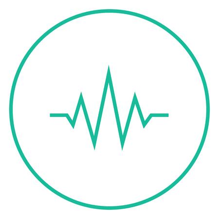 Onda sonora icona linea spessa con angoli appuntiti e bordi per il web, mobile e infografica. Icona di vettore isolato Vettoriali