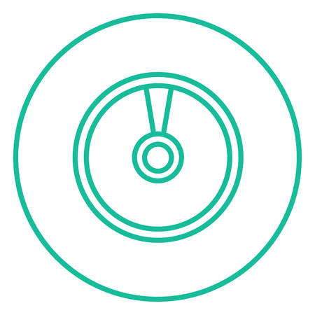 soundtrack: Disc thick line icon with pointed corners and edges for web, mobile and infographics. Vector isolated icon.