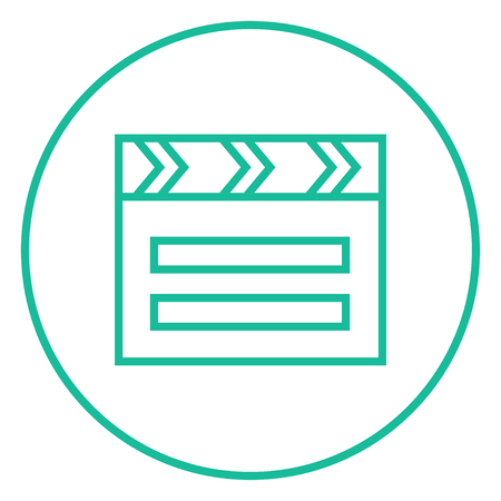 flick: Clapboard thick line icon with pointed corners and edges for web, mobile and infographics. Vector isolated icon.