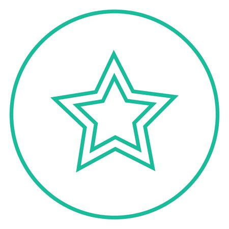 Rating star thick line icon with pointed corners and edges for web, mobile and infographics. Vector isolated icon.