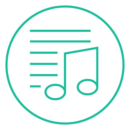 melodies: Musical note thick line icon with pointed corners and edges for web, mobile and infographics. Vector isolated icon. Illustration