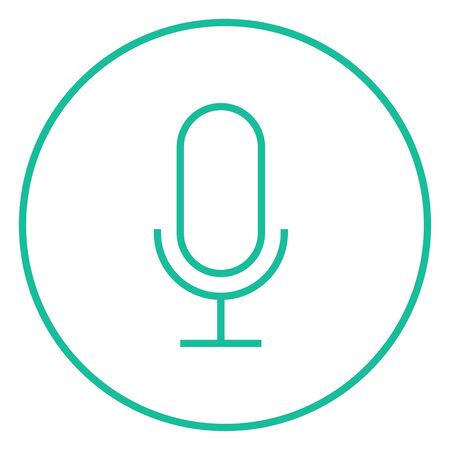 entertaining: Retro microphone thick line icon with pointed corners and edges for web, mobile and infographics. Vector isolated icon.