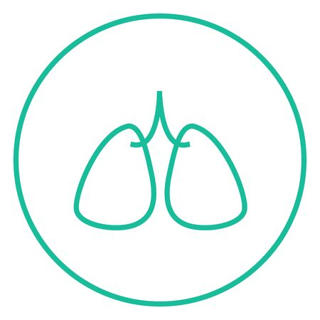 alveolus: Lungs thick line icon with pointed corners and edges for web, mobile and infographics. Vector isolated icon.