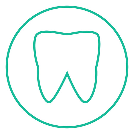 Tooth thick line icon with pointed corners and edges for web, mobile and infographics. Vector isolated icon.