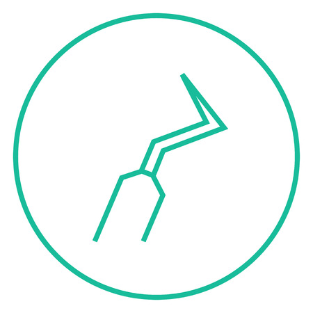 scraper: Dental scraper thick line icon with pointed corners and edges for web, mobile and infographics. Vector isolated icon.
