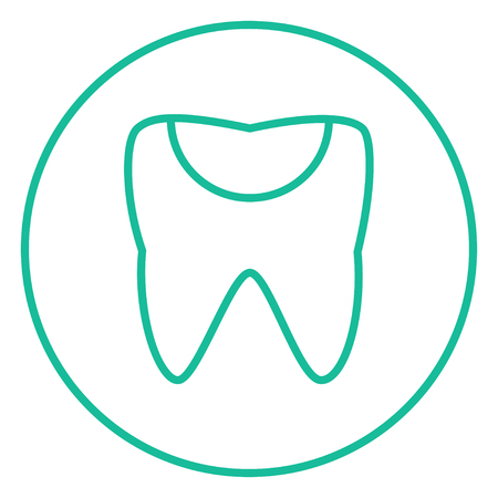 decay: Tooth decay thick line icon with pointed corners and edges for web, mobile and infographics. Vector isolated icon.