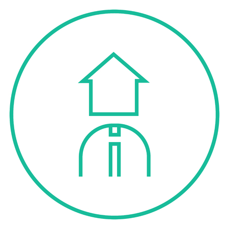 renter: Real estate agent thick line icon with pointed corners and edges for web, mobile and infographics. Vector isolated icon. Illustration