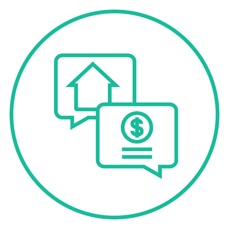 Real estate transaction thick line icon with pointed corners and edges for web, mobile and infographics. Vector isolated icon. Illustration
