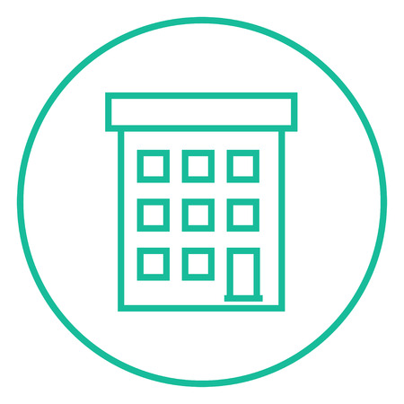condominium: Condominium building thick line icon with pointed corners and edges for web, mobile and infographics. Vector isolated icon.