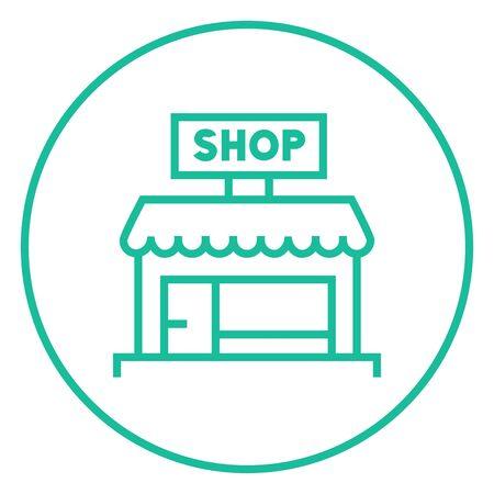 Shop dicke Linie Symbol mit spitzen Ecken und Kanten für Web, Mobile und Infografiken. Vector isoliert Symbol. Standard-Bild - 55170713