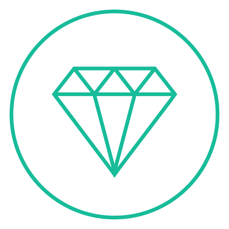 Diamond thick line icon with pointed corners and edges for web, mobile and infographics. Vector isolated icon. Ilustrace