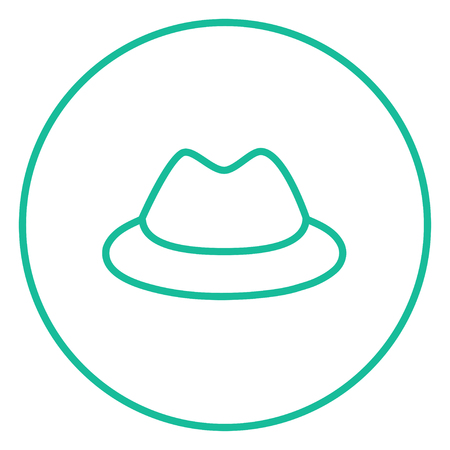Classic hat thick line icon with pointed corners and edges for web, mobile and infographics. Vector isolated icon. Çizim