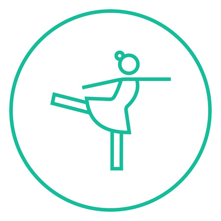 minimal: Female figure skater thick line icon with pointed corners and edges for web, mobile and infographics. Vector isolated icon.