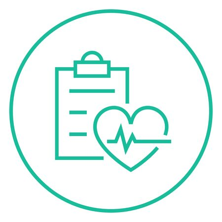 Heartbeat record thick line icon with pointed corners and edges for web, mobile and infographics. Vector isolated icon. Illustration