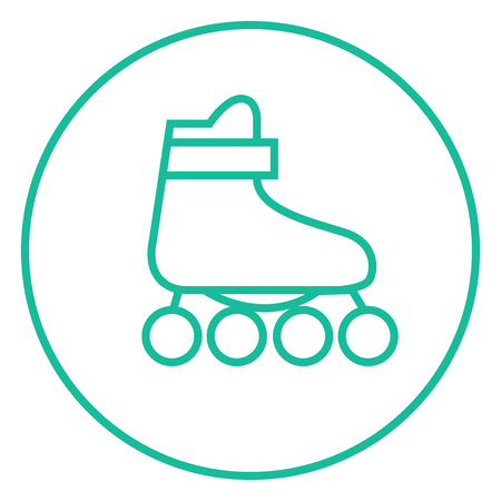 roller skate: Roller skate thick line icon with pointed corners and edges for web, mobile and infographics. Vector isolated icon.