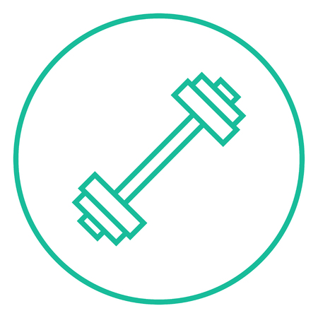 Dumbbell thick line icon with pointed corners and edges for web, mobile and infographics. Vector isolated icon.