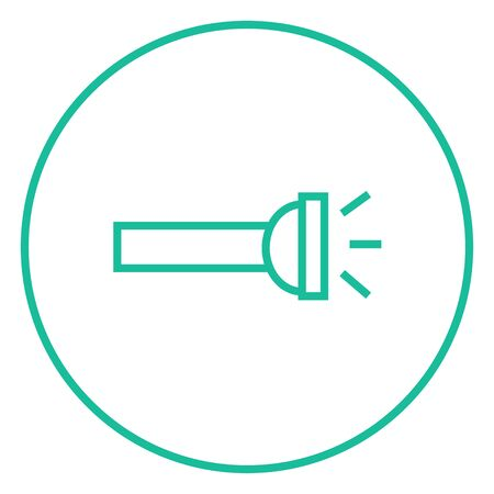 Flashlight thick line icon with pointed corners and edges for web, mobile and infographics. Vector isolated icon. Ilustração