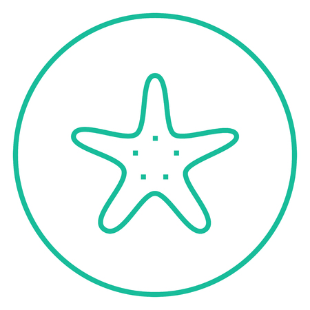 finger fish: Starfish thick line icon with pointed corners and edges for web, mobile and infographics. Vector isolated icon. Illustration