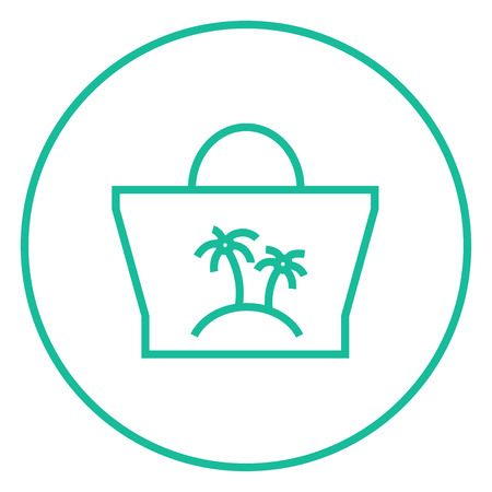 beach bag: Beach bag thick line icon with pointed corners and edges for web, mobile and infographics. Vector isolated icon.