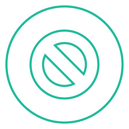 Nicht Zeichen dicke Linie Symbol erlaubt mit spitzen Ecken und Kanten für Web, Mobile und Infografiken. Vector isoliert Symbol. Standard-Bild - 55180819