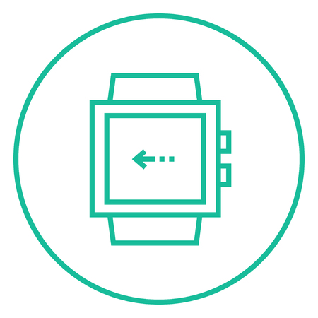 Smartwatch thick line icon with pointed corners and edges for web, mobile and infographics. Vector isolated icon. Illustration
