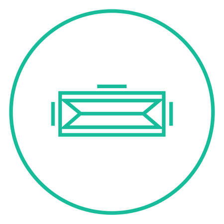 Virtual reality headset thick line icon with pointed corners and edges for web, mobile and infographics. Vector isolated icon.