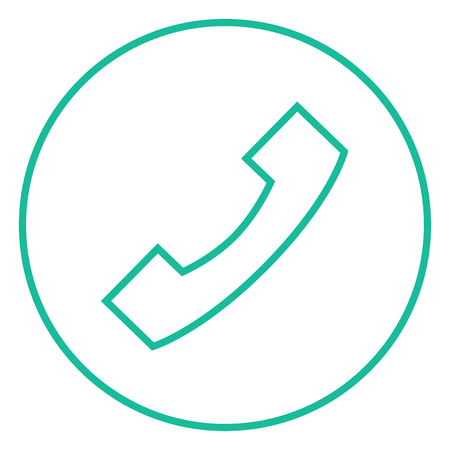 Receiver thick line icon with pointed corners and edges for web, mobile and infographics. Vector isolated icon.