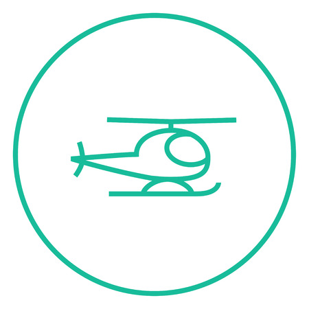 minimal: Helicopter thick line icon with pointed corners and edges for web, mobile and infographics. Vector isolated icon.