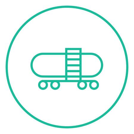 cisterna: Ferrocarril cisterna icono de l�nea gruesa con esquinas puntiagudas y bordes para web, m�vil y la infograf�a. aislado vector icono. Vectores