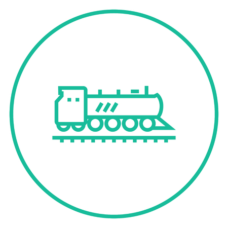 hand rails: Train thick line icon with pointed corners and edges for web, mobile and infographics. Vector isolated icon.